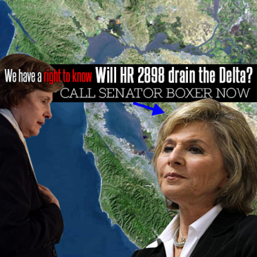 Urge Senator Boxer To Protect SF Bay-Delta From HR 2898