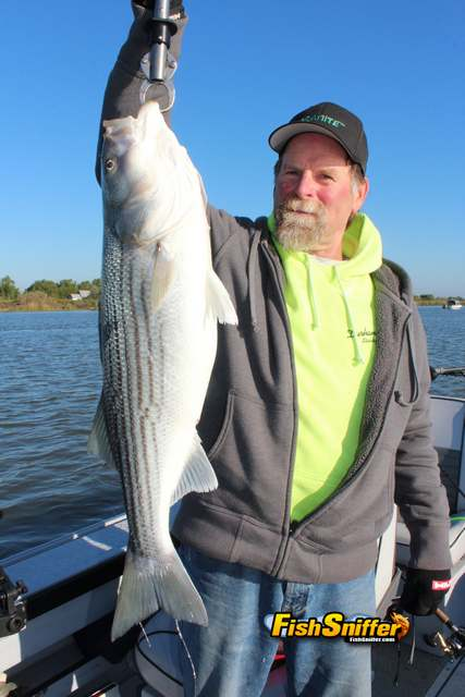 Mike with stripers_web