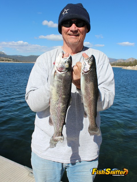 Steve Page of Antioch landed these two rainbows while trolling at Loon Lake on September 14