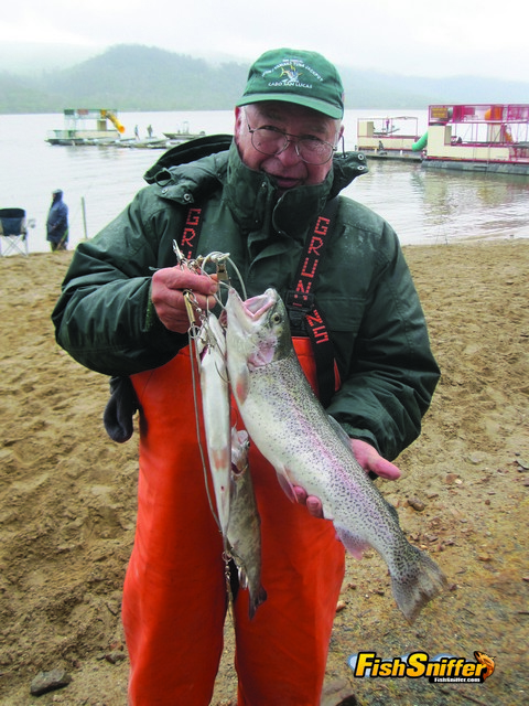 During the fall to winter transition period the weather can be cold and wet but the trout fishing can be hot and exciting. During this period the trout move into shallow water and feed heavily in preparation for the lean winter months ahead.