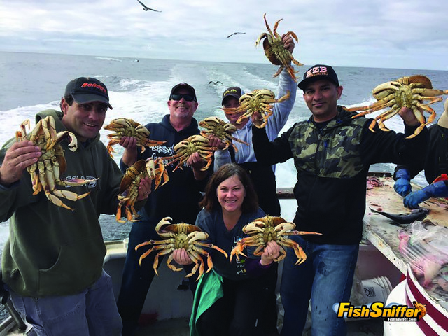 These anglers rounded up limits of big Golden Gate crabs on the November 5 crab opener.