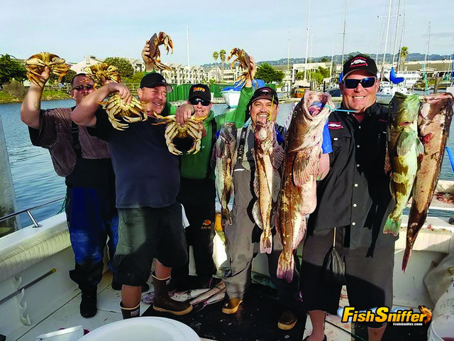 These anglers headed out of the Berkeley Marina with Captain Chris Smith on November 5 and rounded up limits of crab and some impressive lingcod.