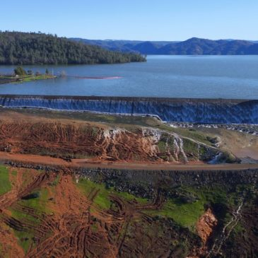 Lake Oroville surges over emergency spillway for first time in history