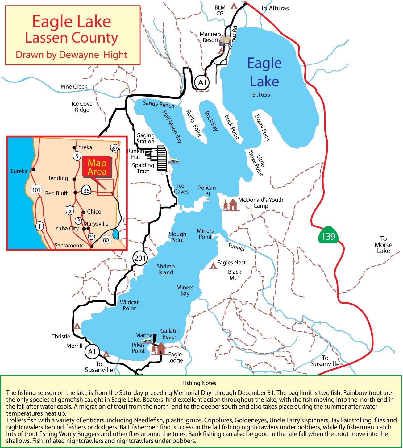 Maps for Millerton lake fishing