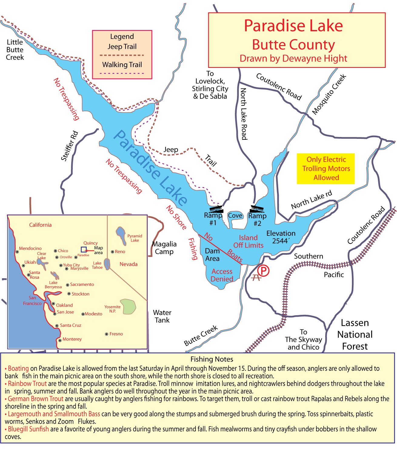 Maps for San luis reservoir fishing report 2017