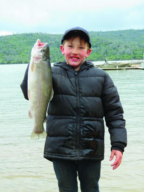 Devin Osterberg took the top spot in the kids division with this impressive 3.77 lb rainbow trout during the April 8 NTAC Collins Lake Tournament.