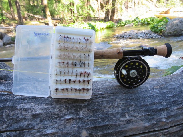 """""""Fishing dry flies represents the ultimate in topwater action. Trout living in freestone streams are typically enthusiastic feeders, but you've still got to achieve a drag free drift and deliver a crisp hookset to draw strikes and hook fish,"""" says Cal Kellogg."""