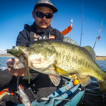 Kayak City Fishing Team's Newest Member Finds Big Bass Deep