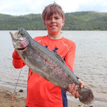5.87 Lb. Rainbow Tops Catches at NTAC Collins Lake Event