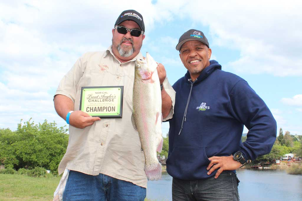 Lake amador delivers big rainbow and lightning trout for The fish sniffer
