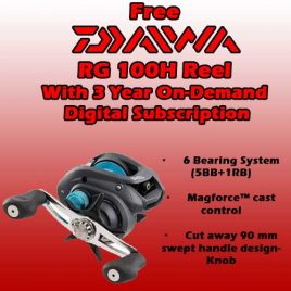 3-Year / 78 Issue On Demand DIGITAL Subscription  w/ FREE Daiwa RG 100H Reel