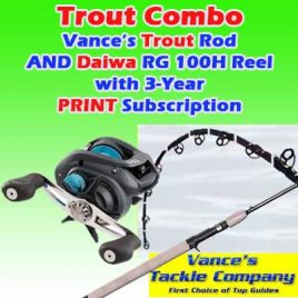 3-Year / 78 Issue Print Subscription w/ Trout Combo