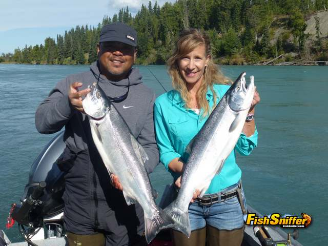 3 Ernie and wife with coho_web