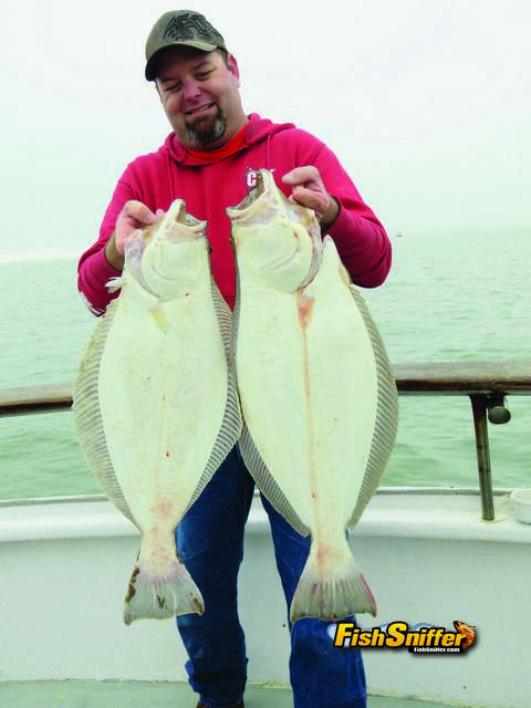 This angler had his hands full of halibut during the June 2 Couple's Challenge aboard the California Dawn. For landing the first keeper halibut of the day, he took home a brand new Penn fishing rod.