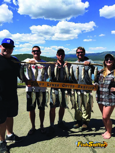 These folks limited out on kokanee while trolling at Stampede Reservoir on June 6.