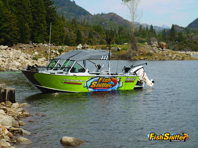 Not only did Paul troll from his 21-foot Rogue Jet Coastal while visiting Hell Hole Reservoir, but he also used it to access the back country camping area at the upper end of the lake.