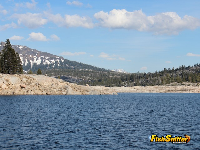 Spicer Reservoir is not only a great trout fishery, but a very scenic High Sierra Lake..