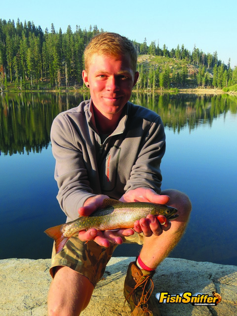 Dylan Meffan caught several high mountain brook trout on August 10 including this dandy fish.