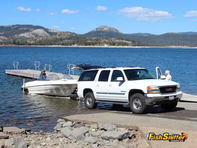 SMUD's Loon Lake offers excellent boat launching facilities, including a concrete ramp and boat dock.