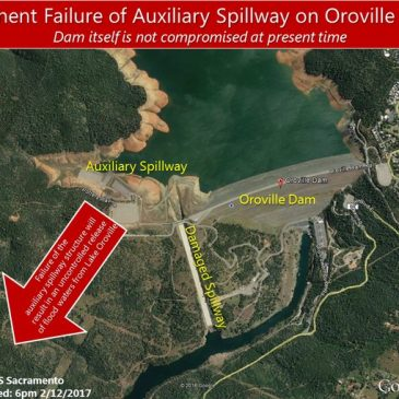 Evacuations ordered for areas around Lake Oroville, Freeway jammed with evacuees