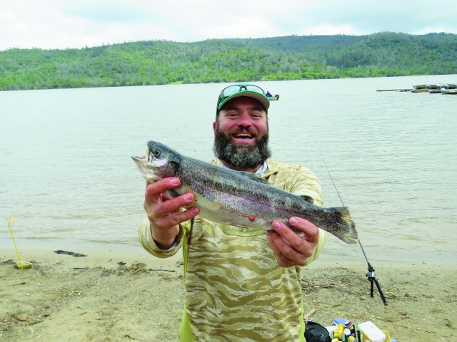 Matt VanSickle took the top spot in the adult division during the April 8 NTAC tournament at Collins Lake. He the winning rainbow on an orange Kastmaster tossed off the bank.