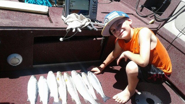 When Drew and his dad Rob visited French Meadows the rounded up a total of 8 fish including 2 nice kokanee, 2 browns and 4 rainbows.