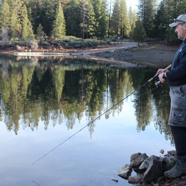 Rainbow Trout, Black Bass Offer Top Sugar Pine Reservoir Fare