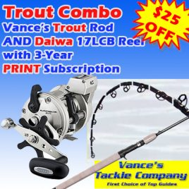 3 Years / 78 Issue PRINT Subscription w/ Trout Combo