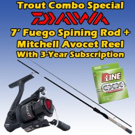 3 Years / 78 Issue PRINT Subscription w/ Trout Spinning Combo