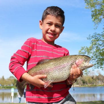 Anglers Battle Huge Rainbows During SMUD Rancho Seco Trout Derby