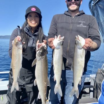 Hard Pulling on Lake Tahoe Mackinaws